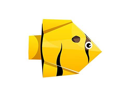 SHBKGYDL Imprimir En Lienzo Impresiones De Lienzo,Animales De Origami Pez Amarillo Abstracto, Simple Pared Decoración Art Deco Hogar Pintura Porche Restaurante Salón Dormitorio Comedor Pasarela