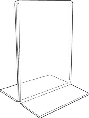 Soporte de acrílico para letreros – vertical de 2 lados – 140 x 178 mm (BD1215)