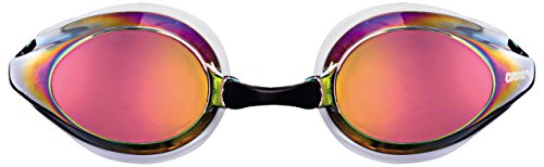 Arena Tracks Mirror Gafas de Natación, Unisex Adulto, Blanco (revo), Universal