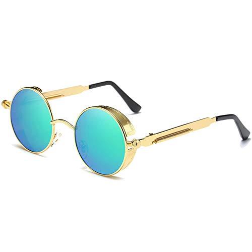 Yangmanini Personalidad De La Moda Gafas De Sol con Montura Grande De Metal Polarizado Lentes De Color Verde/Rosa Lentes De Sol De Película De Color for Mujer (Color : Green)