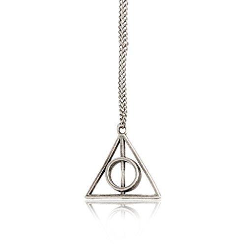 Inception Pro Infinite Collar con Colgante Triangular Reliquias de la Muerte - Color Plata - Cosplay - Deathly Hallows