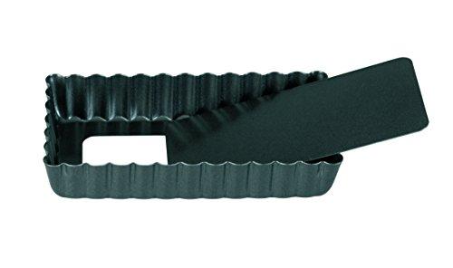 IBILI 823012 Moule Rectangulaire Fond Amok, Tôle d'acier, Noir, 6,9 x 7,6 x 12 cm