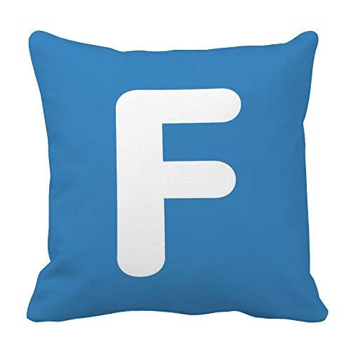 perfecone Home Improvement Funda de almohada de algodón con doble letra F - Emoji Twitter Design Funda de almohada para sofá y coche 1 paquete de 55 cm x 55 cm