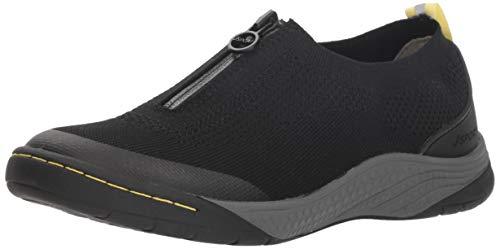 JSport by Jambu Women's Halden Sneaker, Black, 9.5 Medium US