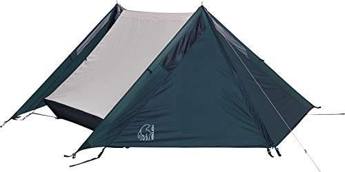 Nordisk - FAXE 2 SI veelzijdige tent, windbestendig, waterdicht, 3-in-1 constructie, scheurbestendig nylon ripstop met siliconen coating, 2-persoonstent, petroleumblauw
