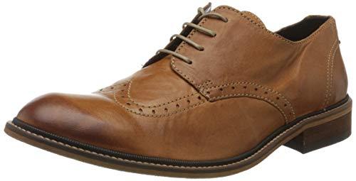 Fly London Hugh933fly, Zapatos de Cordones Brogue Hombre, Marrón (Cognac 014), 46 EU