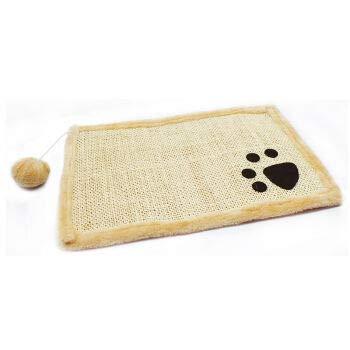 CCAT 100% natuurlijke handgeweven jute tapijt voorkomen katten van schadelijke meubels kat speelgoed en spelletjes, Beige