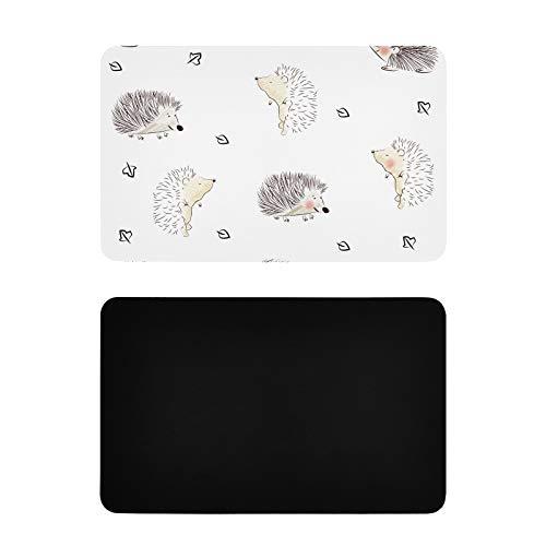 Imanes personalizados cuadrados para el refrigerador infantil erizo lindo diseño telas imanes de nevera lindo personalizado pvc pegatina imanes accesorios de cocina 4x2.5 pulgadas