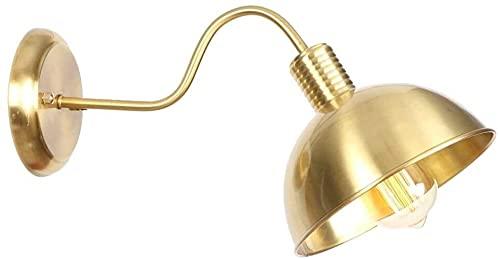 BoMiVa Sconce-Brass Adjustable Long Arm Retro Industrial LED Metal Bulb Wall Lamp Bedside Lamp Living Room Western Restaurant Coffee Shop Decorative Lighting,A Wandlampe