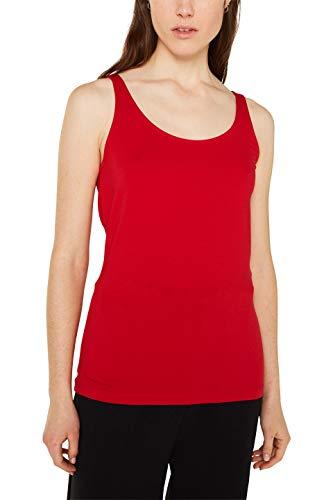 ESPRIT Damen 997EE1K816 Top, Rot (Dark Red 610), Large (Herstellergröße: L)