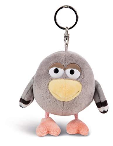 NICI 44242 Schlüsselanhänger Taube Guano 10cm, aus der beliebten Serie Pat der Hund, Grau