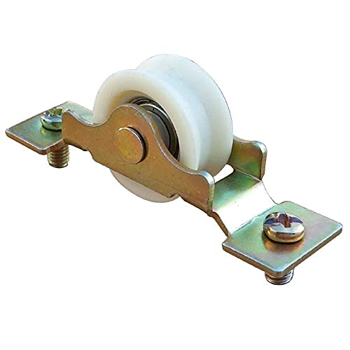 FEPDW Hardware Parts Old-Fashioned 65 Aluminum Alloy Doors and Windows Pulley Ball Bearing Nylon Sliding Sliding Door and Window Rolling Wheel Accessories,Handle