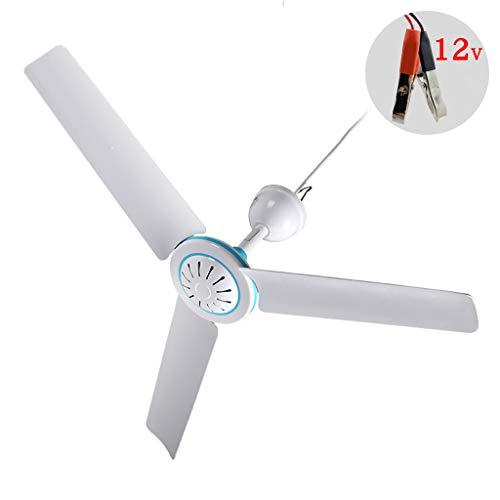 Huiingwen Household - Ventilador de techo universal de 12 V, refrigerador de aire, ventilador colgante, con cable de 2,4 m, para casa, camping, exteriores