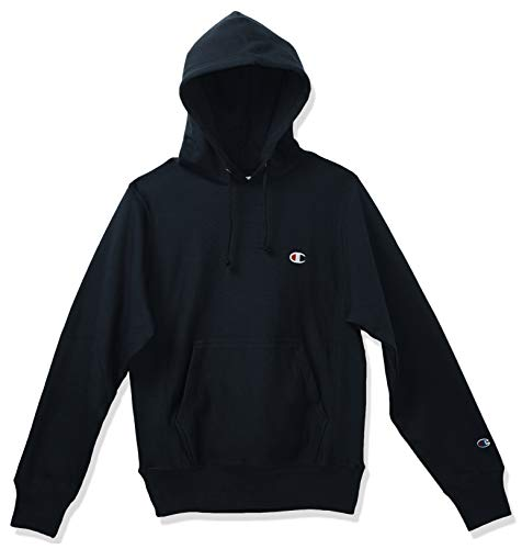 Champion LIFE Men's Reverse Weave Pullover Hoodie, Navy/Left Chest C Logo, Small