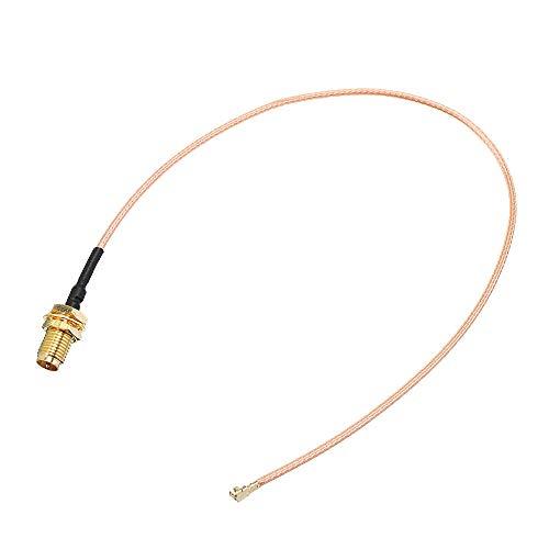 Lishaodonglishaodon Cable de extensión de 5pcs 50 cm U.FL IPX a RP-SMA Distaff Antenna RF Pigtail Cable JAMPER para PCI WiFi Card RP-SMA Jack a IPX RG178
