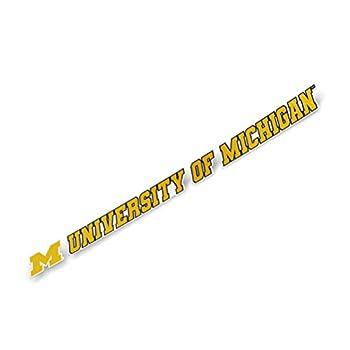 University of Michigan Wolverines Name Logo Vinyl Decal Laptop Water Bottle Car Scrapbook  15 Inch Sticker