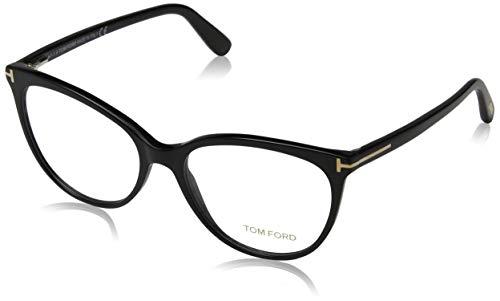 Eyeglasses Tom Ford FT 5513 001 Shiny Black, Rose Gold't' Logo