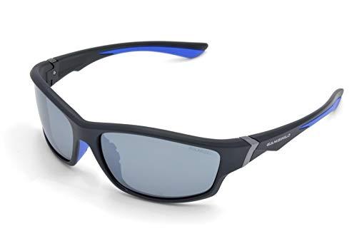 Gamswild WS6036 Sonnenbrille Sportbrille Skibrille Fahrradbrille Damen Herren Unisex | blau | lila | rot, Farbe: Schwarz/Blau /