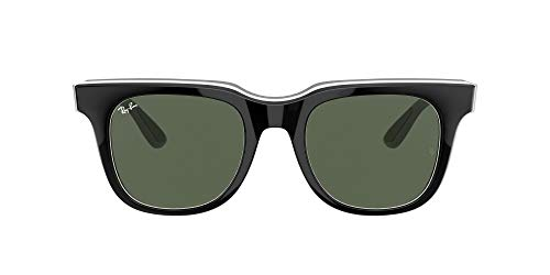 Ray-Ban 0RB4368 Gafas, BLACK WHITE GRAY, 51 Unisex