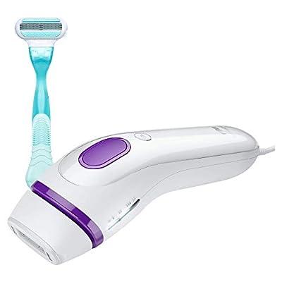 Braun Silk-Expert 3 IPL BD 3001 Hair Removal with Gillette Venus Razor, White/Violet