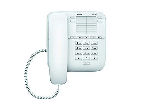 Gigaset DA310 Telefono Fisso, 3 Melodie, Bianco [Italia]