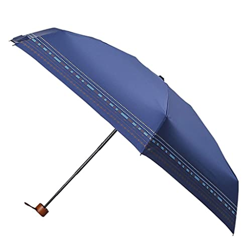 JJYGONG Paraguas Plegable Mini Ultra Light Sun Protection Uv Uv Paraguas Retro Innovación Lluvia Dual Uso Sombra Sombra Fácil de cargar/B