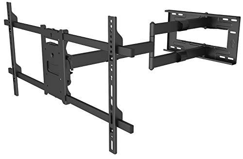 my wall H27-1XL Die Heimkino-Revolution, Schwere und große LCD Bildschirme von 107-203 cm (42 Zoll - 90 Zoll) um 90 ° drehen Extragroßer Wandabstand 101 cm
