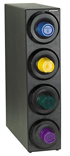 Dispense-Rite SLR-S-4BT Countertop Cup Dispensing Cabinet with (4) SLR-2F, Black Polystyrene