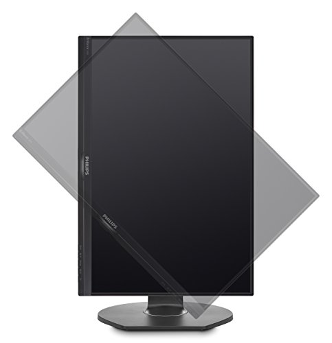 Philips 240B7QPJEB/00 61 cm (24 Zoll) Monitor (VGA, HDMI, 2x Displayport, IPS Panel, 2x USB 3.0, 1920 x 1200, 5 ms, Pivot) schwarz