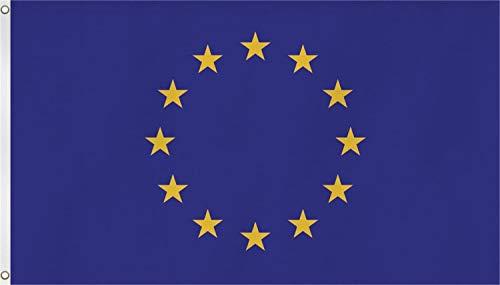 normani Flagge - Fahne - Hissfahne mit Zwei Metallösen zur Befestigung und zum Hissen - Größe 90 x 150 cm wetterfest Farbe Europa