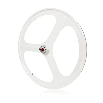 TBVECHI 700C Tri-Spoke Single Speed Fixie Bicycle Wheel Fixed Gear Bike White Rear Wheel (Set of Rear)