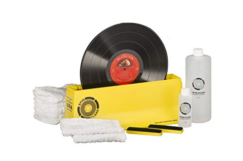 """Spin-Clean Record Washer MKII Deluxe Kit - Offering Five Extra Drying Cloths, Extra 32oz. Fluid & Extra Brushes Compared to Standard""""Complete"""" Kit"""