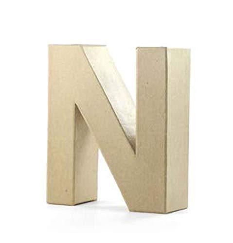 Pracht Creatives Hobby 4875-100N1 Papp Art Buchstabe N, Pappbuchstabe ca. 10 x 3 cm groß, ideal zum Bemalen, Bekleben und Verzieren, für Serviettentechnik geeignet, als dekorativer Schriftzug