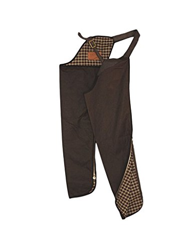 Outback Trading Co Men's Co. Oilskin Cotton Chaps Bronze Large