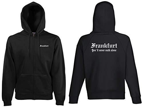world-of-shirt Frankfurt Kapuzenjacke Ultras Herren S-XXL