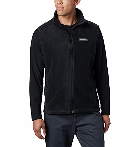 Columbia Men's Standard Steens Mountain Vest, Black, Large