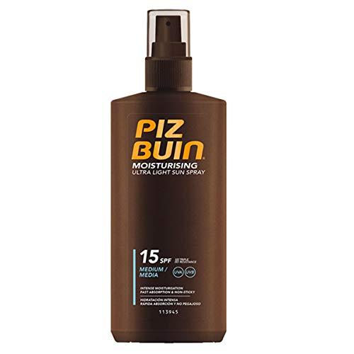 Piz Buin Moisturising Ultra Light Sun Spray LSF 15, schnell einziehendes Sonnenspray mit dreifach Sonnenschutz (1 x 200 ml)
