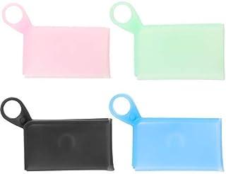 Ryoizen Boîte Portable de Rangement pour Masque, Conteneur de Masquese en Silicone Portatifs, Imperméable, Stockage Étanch...