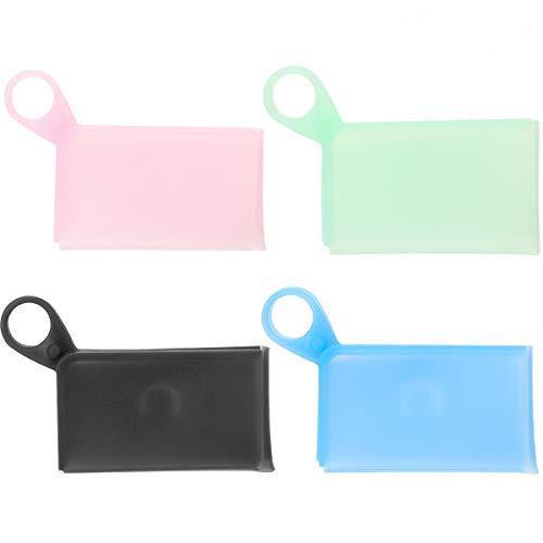 Ryoizen Tragbare Masken Aufbewahrungstasche Silikon, Staubmasken-Aufbewahrungsbox zur Vermeidung von Maskenverschmutzung Zubehör Bag 9x5.5x1.5cm