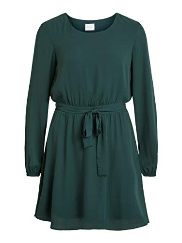 Vila Damen Vilucy L/S Dress-fav Kleid, Pine Grove, 36 EU