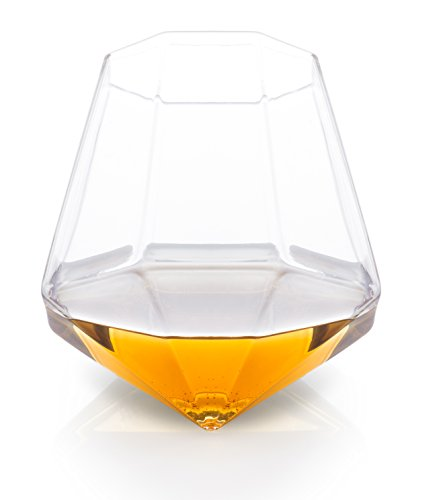 Thumbs Up! Diamond Glass Bicchiere da Whisky, 9x9x9 cm