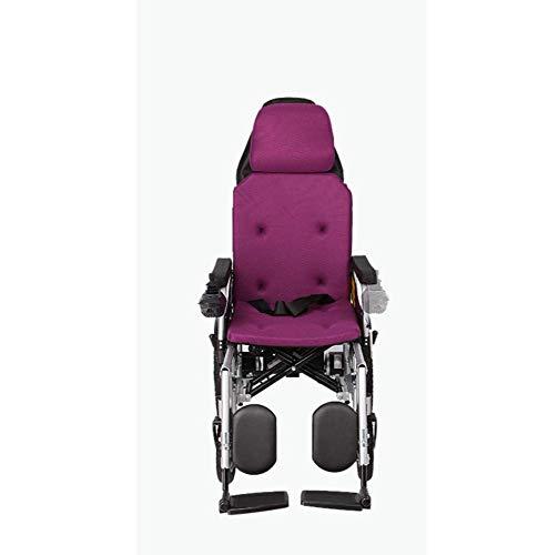 Exclusieve draagbare elektrische rolstoel, lichtgewicht, inklapbare gemotoriseerde rolstoel, zware belasting, compacte opvouwbare rolstoel, geschikt voor vliegtuig