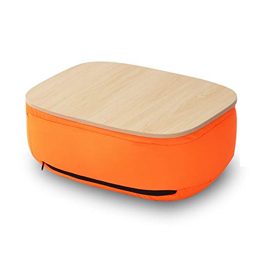 CSS High Quality Table,Tray Tables Computer Desk Portable Lazy Knee Mobile Table Cushion Tablet Mini Small Table Save Space Dormitory Student Easy Lazy Bed Simple Home,Orange