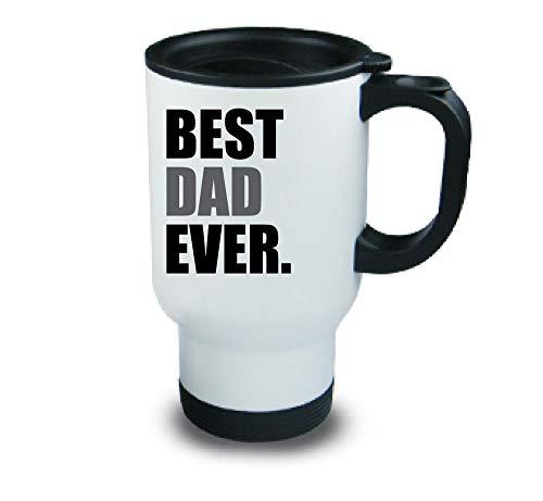 BEST DAD jamais Métal tasse de voyage Gris fête des Pères Anniversaire Noël