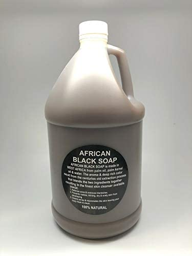 African Black Soap Liquid Soap 1 Gallon 100 Natural Soap from Ghana African Shea Butter Soap product image