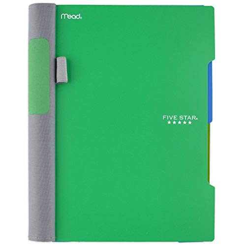 "Five Star Advance Spiral Notebook, 2 Subject, College Ruled Paper, 100 Sheets, 9-1/2"" x 6"", Green (73160)"