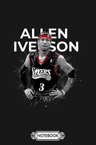 Allen Iverson Notebook: Planner, Matte Finish Cover, 6x9 120 Pages, Journal, Lined College Ruled Paper, Diary