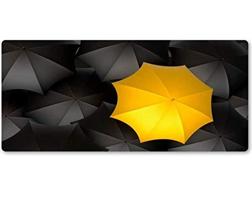 Muisonderlegger zwarte en gele paraplukussens grote steun PC-game-computermatten Heerlijk gamermat antislip duurzaam goed 800 x 300 x 3 mm