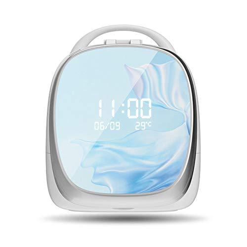 PsgWXL Boîtes de Rangement Cosmetic avec Miroirs à LED Rotatif de 180 Degrés Réglage D'Éclairage Smart Portable pour Salle de Bain WC Chambre Face Pivotant,Bleu,Smart Version