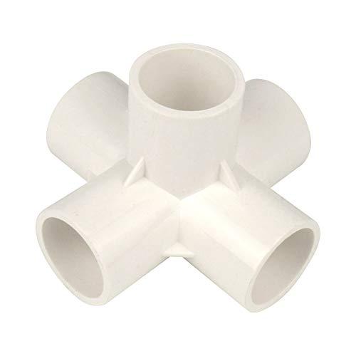 Gardeningwill 10PCS 5vie PVC raccordo costruire Heavy Duty serra con mobili connettori, Infradito colorati estivi, con finte perline, 20mm